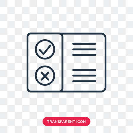 Pros and cons vector icon isolated on transparent background, Pros and cons logo concept Stock Vector - 107375189