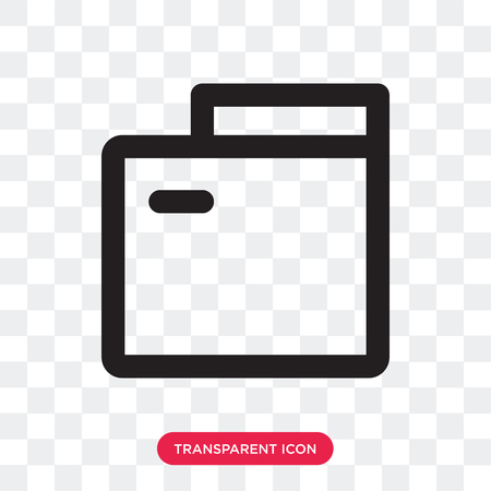 Folder vector icon isolated on transparent background, Folder logo concept