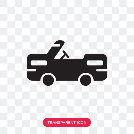 Military vehicle vector icon isolated on transparent background, Military vehicle logo concept  イラスト・ベクター素材