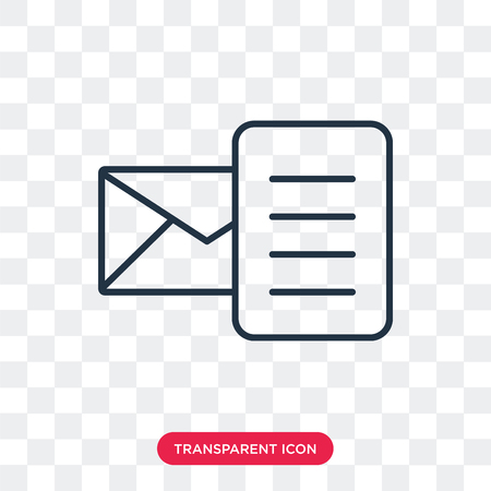 Email vector icon isolated on transparent background, Email logo concept