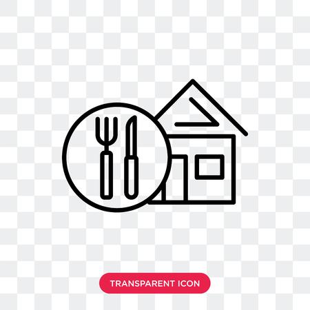 Icône de vecteur à emporter isolé sur fond transparent, concept logo à emporter
