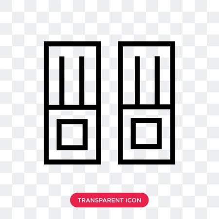 Vector bestandspictogram geïsoleerd op transparante achtergrond, bestand logo concept