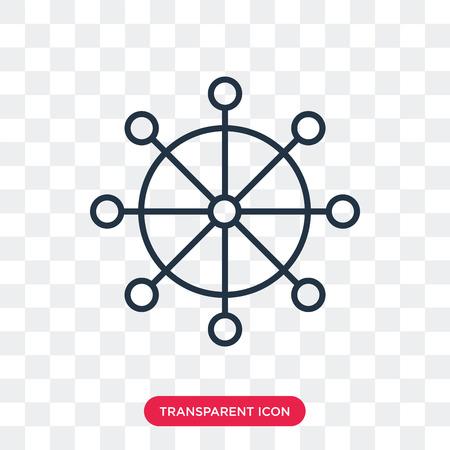 Steering Wheel vector icon isolated on transparent background, Steering Wheel logo concept 版權商用圖片 - 107376736