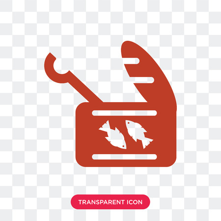 Sardine vector icon isolated on transparent background, Sardine logo concept