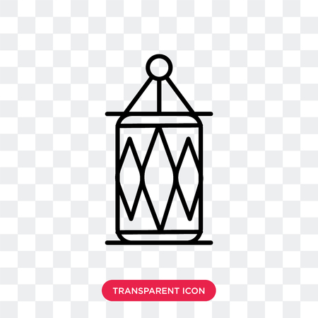Arabic Lamp vector icon isolated on transparent background, Arabic Lamp logo concept Ilustração