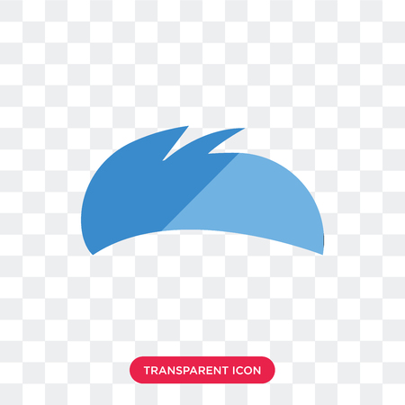 Men Hair vector icon isolated on transparent background, Men Hair logo concept