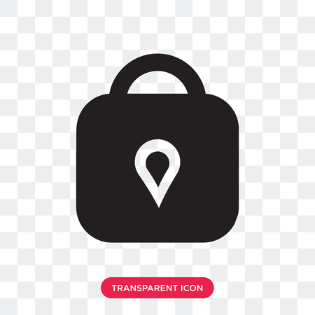 Padlock vector icon isolated on transparent background, Padlock logo concept