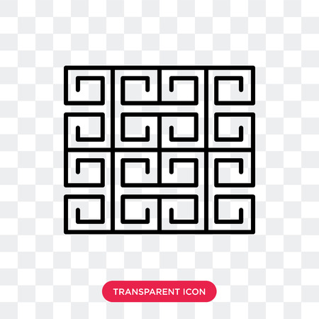 Arabic vector icon isolated on transparent background, Arabic logo concept