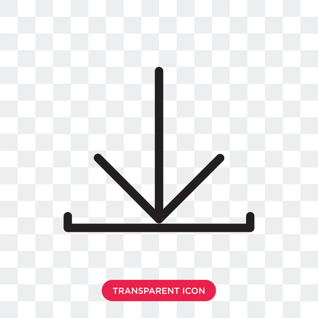 Download vector icon isolated on transparent background, Download logo concept