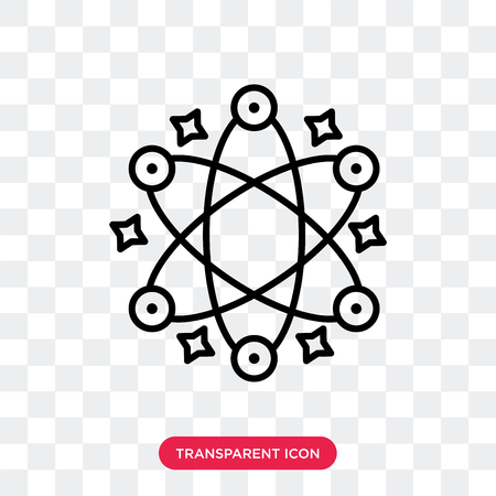 Atomic vector icon isolated on transparent background, Atomic logo concept