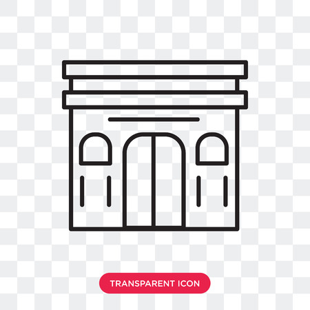 Arc de triomphe vector icon isolated on transparent background, Arc de triomphe logo concept