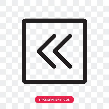 Left arrow vector icon isolated on transparent background, Left arrow logo concept