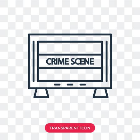 Crime scene vector icon isolated on transparent background, Crime scene logo concept
