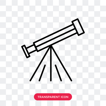 Telescope vector icon isolated on transparent background, Telescope logo concept Illustration