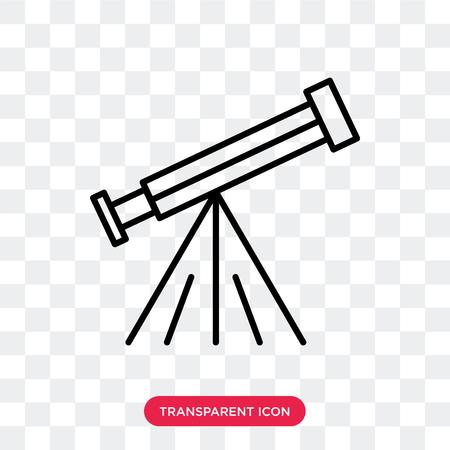 Icône de vecteur de télescope isolé sur fond transparent, concept logo télescope Logo