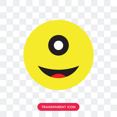 Cyclops vector icon isolated on transparent background, Cyclops logo concept
