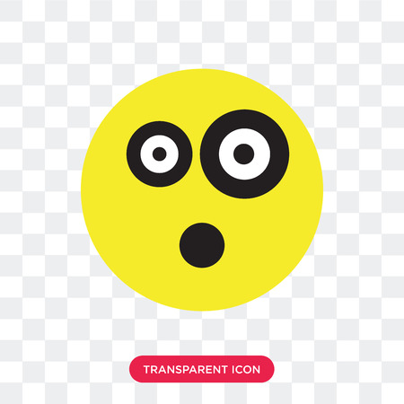Shocked vector icon isolated on transparent background, Shocked logo concept