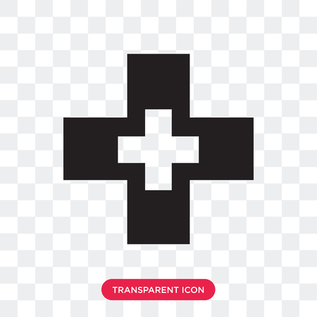 Pharmacy Cross vector icon isolated on transparent background, Pharmacy Cross logo concept