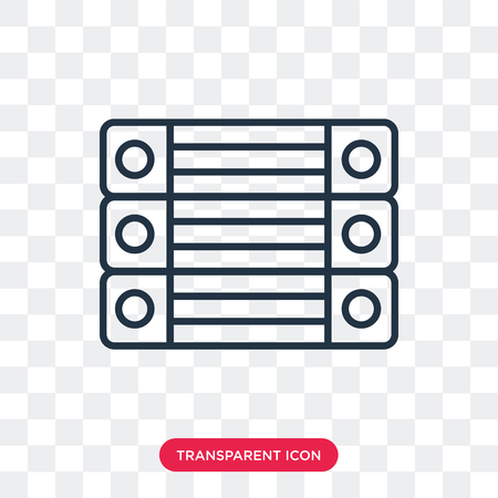 Archive vector icon isolated on transparent background, Archive logo concept Иллюстрация