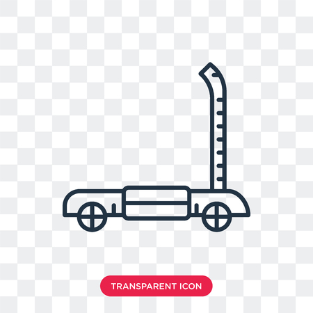 Kick scooter vector icon isolated on transparent background, Kick scooter logo concept