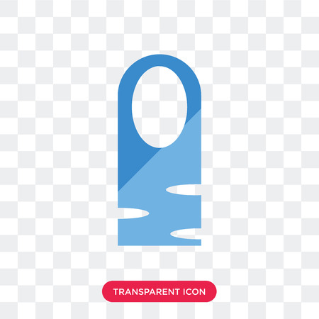Long Nail vector icon isolated on transparent background, Long Nail logo concept 向量圖像