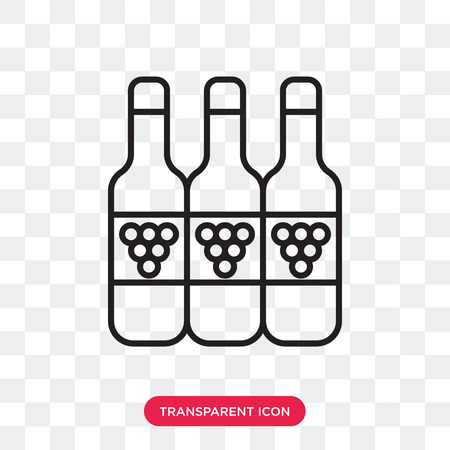 Wine vector icon isolated on transparent background, Wine logo concept