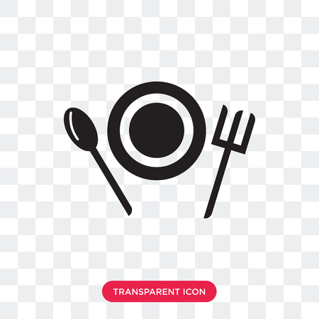 Food vector icon isolated on transparent background, Food logo concept Vettoriali