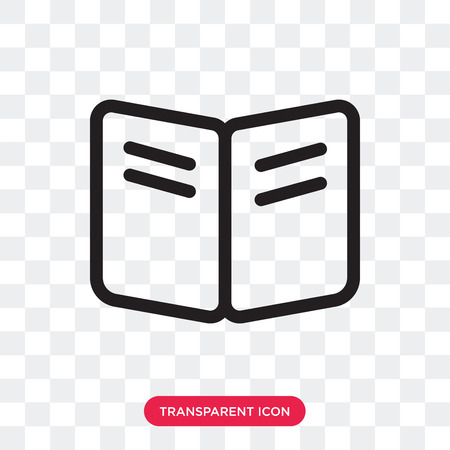 Book vector icon isolated on transparent background, Book logo concept