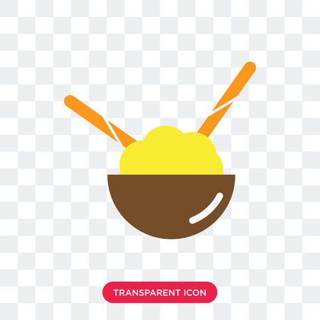 Rice vector icon isolated on transparent background, Rice logo concept Standard-Bild - 107446275
