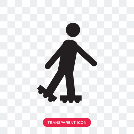 Roller Skater vector icon isolated on transparent background, Roller Skater logo concept