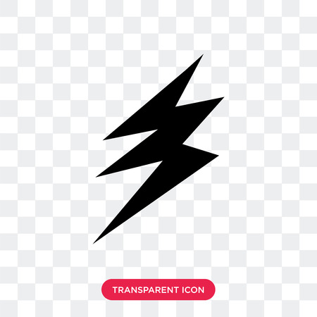 Electricity vector icon isolated on transparent background, Electricity logo concept Vectores