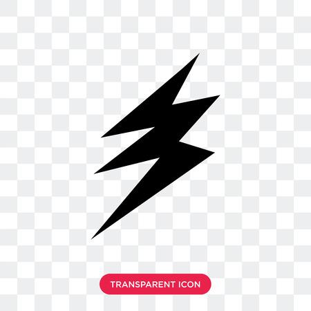 Icono de vector de electricidad aislado sobre fondo transparente, concepto de logo de electricidad Logos