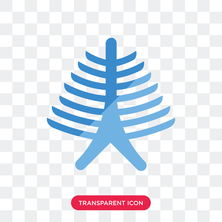 Human Ribs vector icon isolated on transparent background, Human Ribs logo concept Illustration