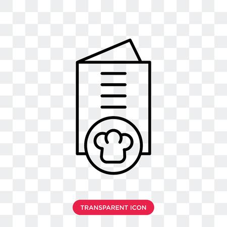 Restaurant menu vector icon isolated on transparent background, Restaurant menu logo concept Illustration