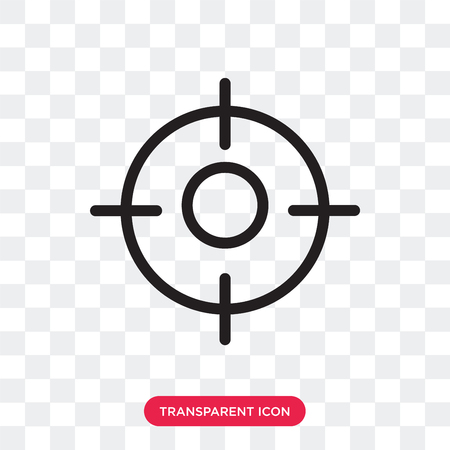 Focus vector icon isolated on transparent background, Focus logo concept