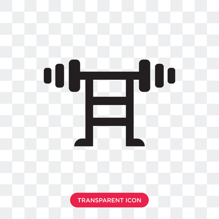 Dumbbell vector icon isolated on transparent background, Dumbbell logo concept Illusztráció
