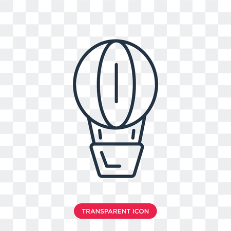 Air balloon vector icon isolated on transparent background, Air balloon logo concept Illustration