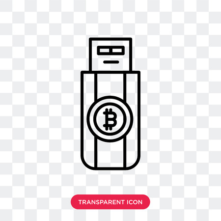 Pendrive vector icon isolated on transparent background, Pendrive logo concept