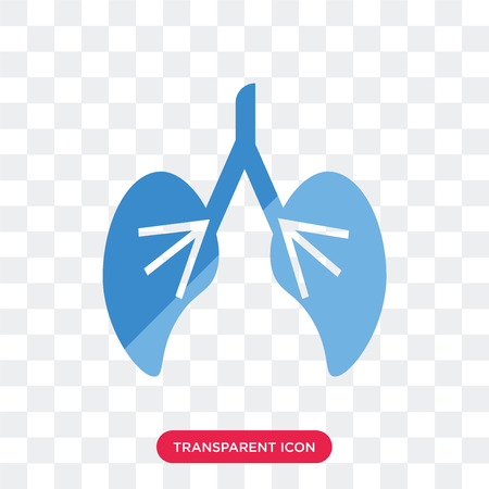 Human Lungs vector icon isolated on transparent background, Human Lungs logo concept