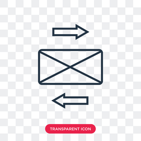 Mailing vector icon isolated on transparent background, Mailing logo concept