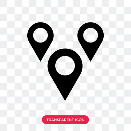 Maps mark vector icon isolated on transparent background, Maps mark logo concept Illustration