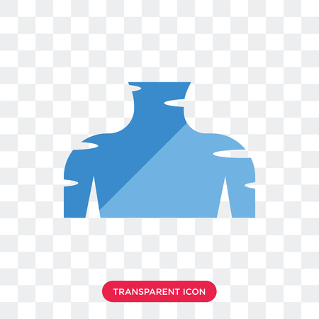 Human Neck vector icon isolated on transparent background, Human Neck logo concept