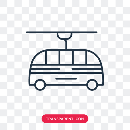 Trolleybus vector icon isolated on transparent background, Trolleybus logo concept