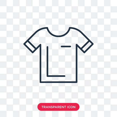 Shirt vector icon isolated on transparent background, Shirt logo concept