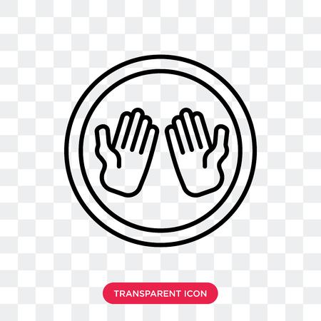 Praying vector icon isolated on transparent background, Praying logo concept Standard-Bild - 107453596