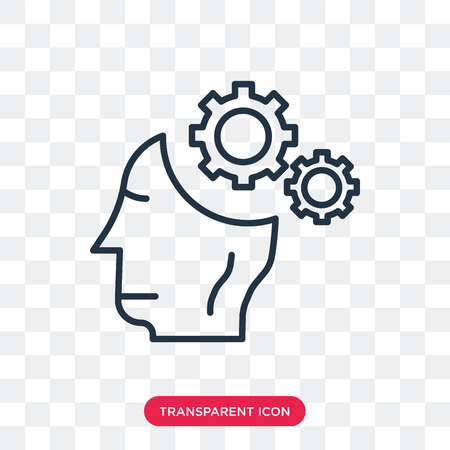 Thinking vector icon isolated on transparent background, Thinking logo concept