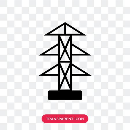 Icône de vecteur de pôle isolé sur fond transparent, concept logo pôle
