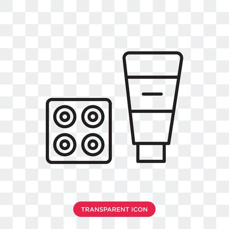 Cosmetics vector icon isolated on transparent background, Cosmetics logo concept Иллюстрация