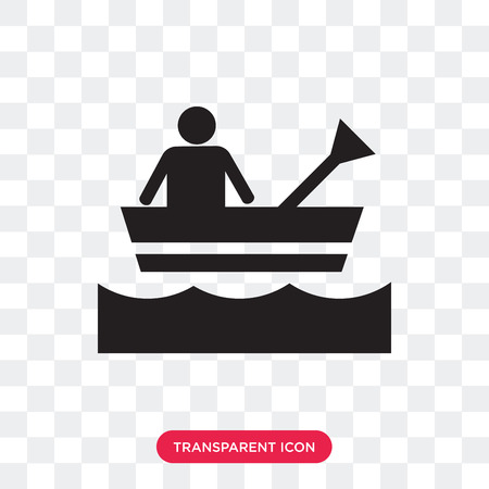 Rafting vector icon isolated on transparent background, Rafting logo concept Ilustração