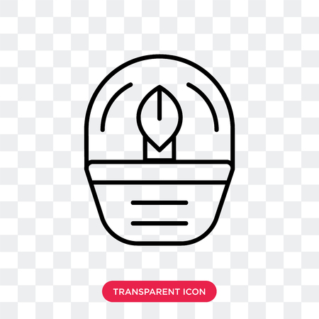 Oil lamp vector icon isolated on transparent background, Oil lamp logo concept